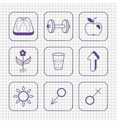 Sketches simple medical icons set vector image vector image