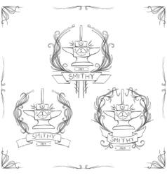 Smithy Vintage Logos vector image