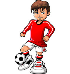 soccer football player teen boy sports clipart vector image