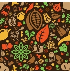 Spice seamless pattern vector