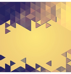 abstract background banner of triangles vector image