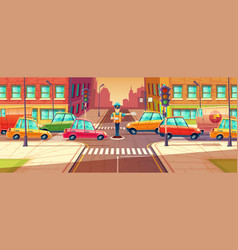 adjusting city crossroads vector image