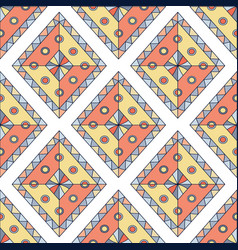 geometric rhombus seamless pattern abstract vector image vector image