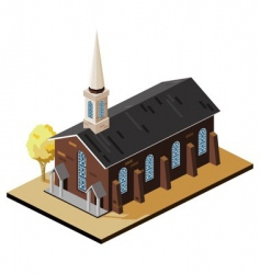 old church vector image
