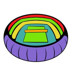 tennis stadium icon icon cartoon vector image