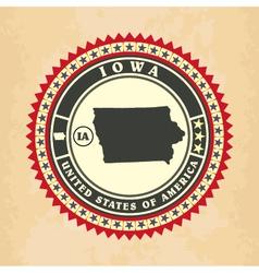 Vintage label-sticker cards of Iowa vector image vector image