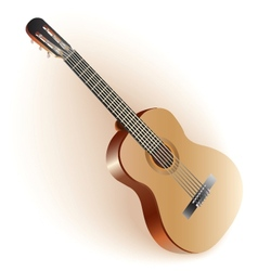 Classical Spanish guitar vector image