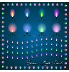 abstract of colorful lights on blue background vector image vector image