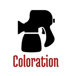 Airbrush or spray gun black silhouette vector image