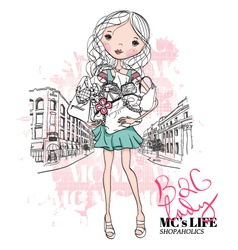 Bag Lady vector image