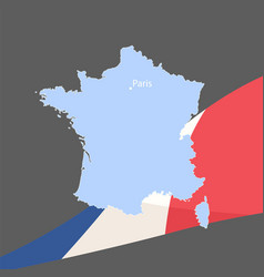 beautiful flag of france vector image vector image