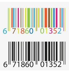 Black and colored barcode vector image vector image