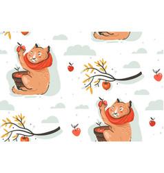 hand drawn abstract greeting cartoon autumn vector image