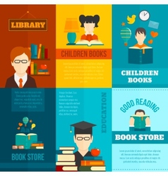 Reading poster set vector