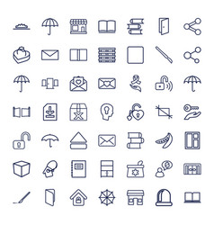 49 open icons vector