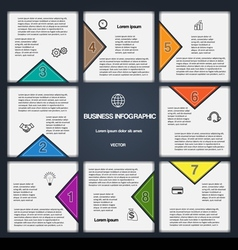 8 options numbered templates for infographic vector