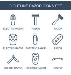 9 razor icons vector