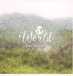 a world environment day vector image