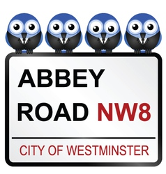 ABBEY ROAD SIGN vector image