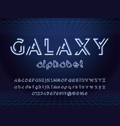 abstract font vector image