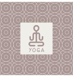 Abstract lotus pose yoga studio design card vector