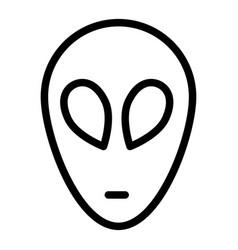 Alien line icon extraterrestrial rover vector