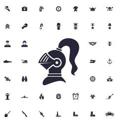 Ancient armor helmet icon vector