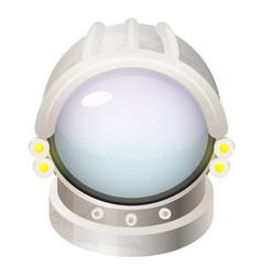 Astronaut helmet flat vector