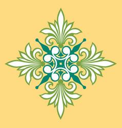 beautiful decoration design plants leaves vector image
