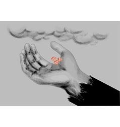 Beggar symbol vector image