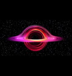 Black hole realistic space star destruction circle vector