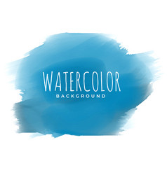 blue paint watercolor brush stroke background vector image