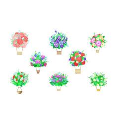 Bouquet aerostat beautiful floral air vector