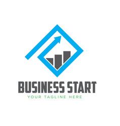 business grow start logo designs vector image