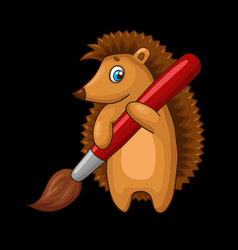 Cartoon hedgehog character vector