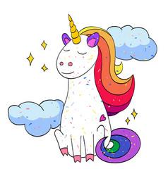 Cartoon image of unicorn vector