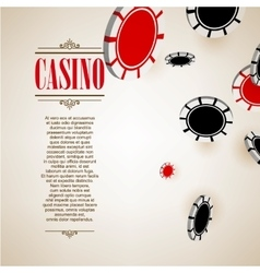 Casino logo poster background or flyer vector