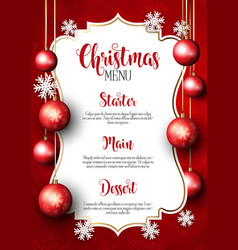 Christmas menu design background vector