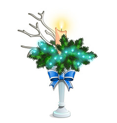christmas sketch with a decorative arrangement of vector image