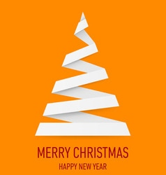 Christmas tree made of folded paper origami 01 vector image