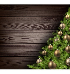 Christmas wooden background vector