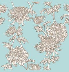 chrysanthemum seamless pattern vector image