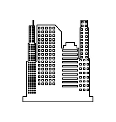 cityscape isolated icon design vector image