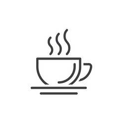 coffee cup icon line sign vector image