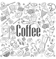 Coffee design line art vector