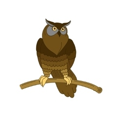 Cute hand-drawn eagle owl vector image