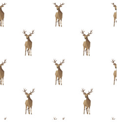 deer triangle shape seamless pattern backgrounds vector image