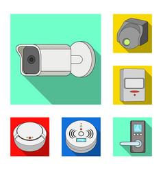 Design of cctv and camera symbol vector