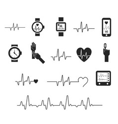 Electrocardiogram ecg or ekg - medical vector
