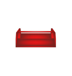 empty wooden toolbox in red design vector image